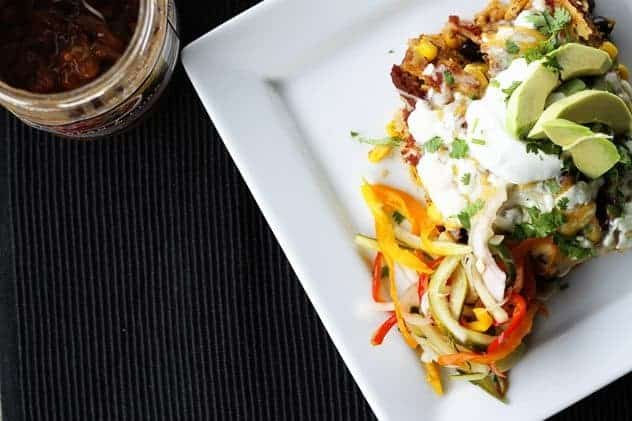 Slow-Cooker Chicken and Black Bean Enchiladas