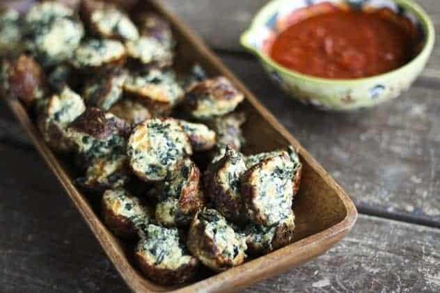 Cheesy Spinach Puffs