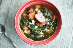 Hearty Kielbasa Bean and Vegetable Soup