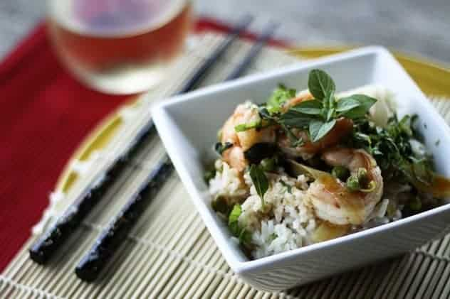 Thai Red Curry Shrimp with Coconut Rice (How to Freeze Rice) | Make Ahead Mondays