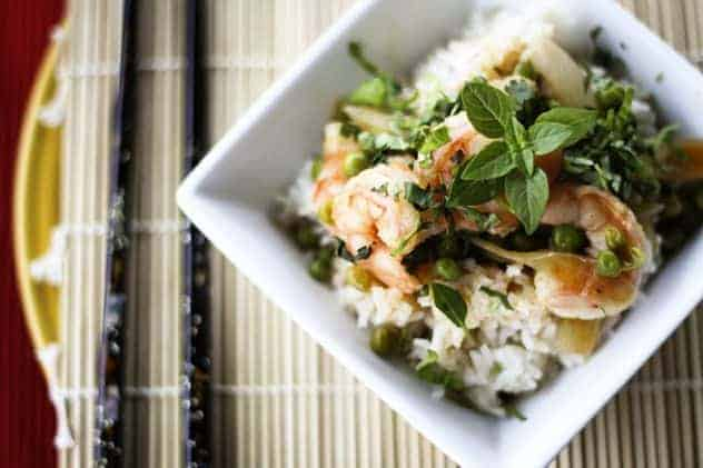 Thai Red Curry Shrimp and Coconut Rice