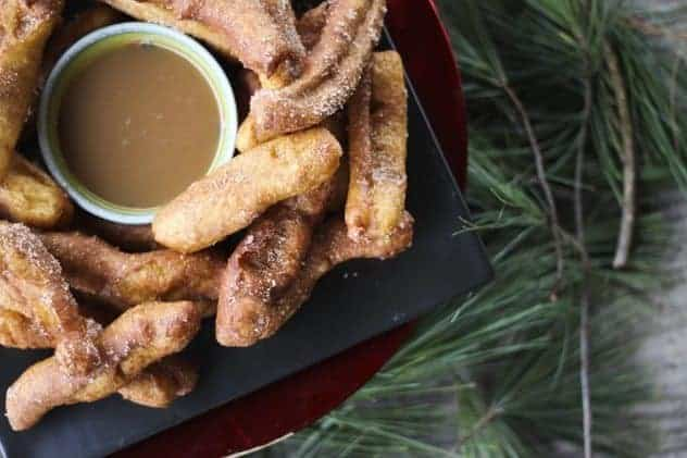 Banana Churros with Butter Rum Caramel   A Party Wrap-up