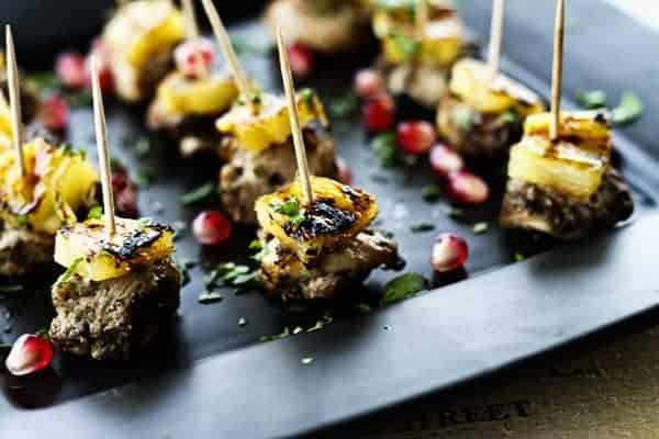 Featured Image for Jerk Chicken Bites with Glazed Grilled Pineapple on Foodie With Family