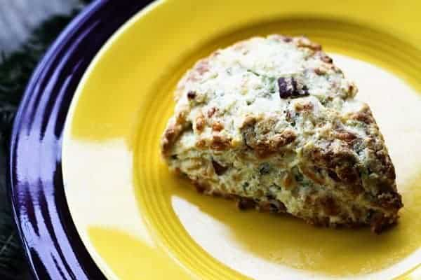 Freeze and Bake Bacon Cheddar Scallion Scones | Make Ahead Mondays