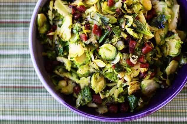 Stir Fried Brussels Sprouts with Chinese Sausage