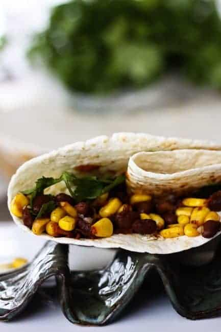 Black Bean Corn Tacos from Foodie with Family