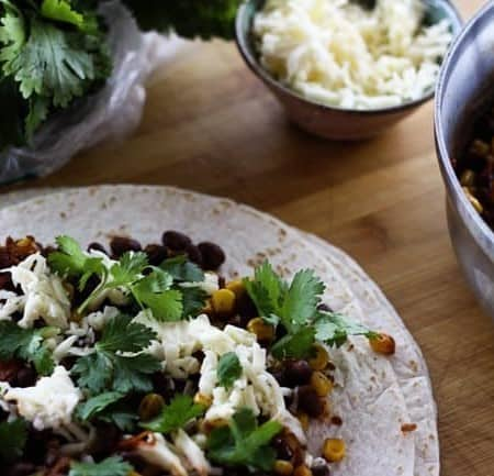Black Bean and Corn Tacos | 10 Minute Meal