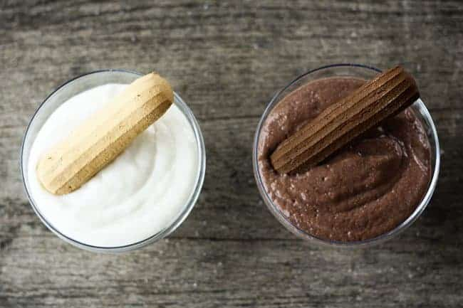 Homemade Chocolate and Vanilla No-Cook Instant Pudding from Foodie with Family