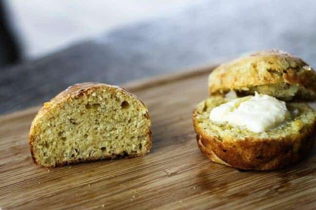 Sliced miniature No Knead Dilly Bread from Foodie with Family