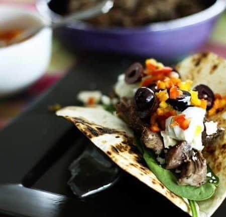 Slow-Cooker Garlicky Lamb and Greek Tacos | Make Ahead Monday