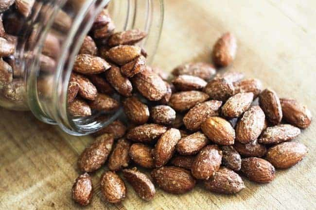 Cinnamon Maple Candied Almonds