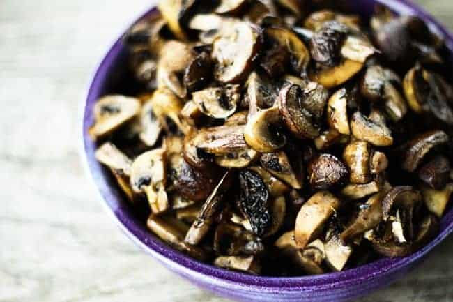 Roasted Mushrooms with Thyme by Foodie with Family