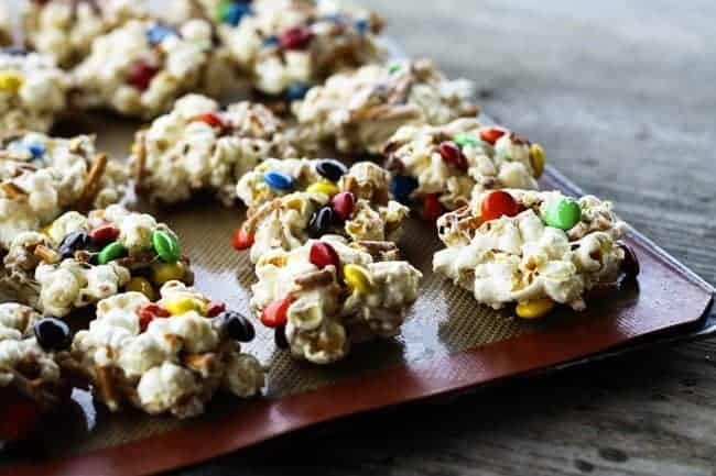 Salty and Sweet No Bake Popcorn Cookies from Foodie with Family