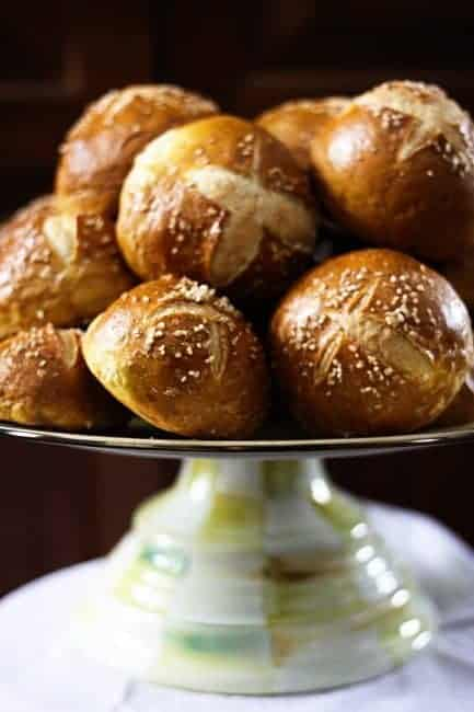 Soft Pretzel Rolls from Foodie with Family