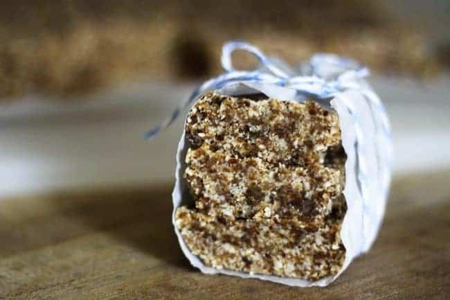 Oatmeal Raisin Cookie Energy Bars from the kitchen of Foodie with Family