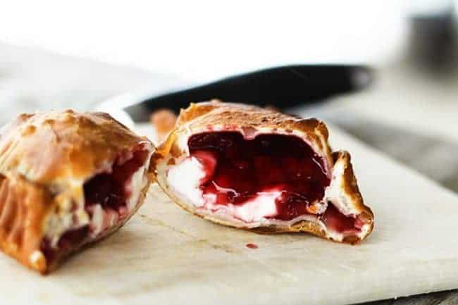 Quick & Dirty Raspberry Cheesecake Fried Pies