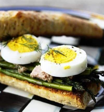 French Roasted Asparagus, Tuna and Hardboiled Egg Sandwiches | Lenten Friday Recipes