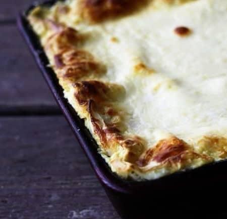 Roasted Garlic Spinach Alfredo Lasagna | Make Ahead Mondays