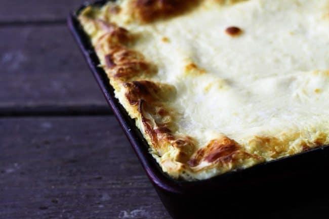 Roasted Garlic Spinach Alfredo Lasagna   Make Ahead Mondays