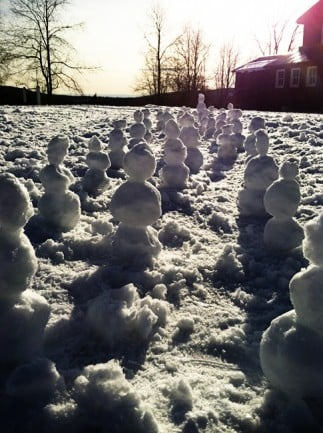 A Snowman Army by Foodie with Family