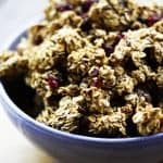 Ancient Grains Cranberry Dark Chocolate Granola | www.foodiewithfamily.com