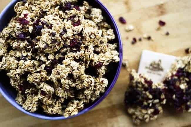 Ancient Grains Cranberry Dark Chocolate Granola| Make Ahead Mondays