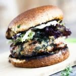 Spinach Feta Turkey Burger | www.foodiewithfamily.com