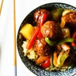 Sweet and Sour Old Fashioned Ham Ball Stir-fry | www.foodiewithfamily.com