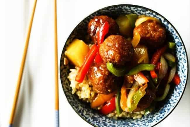 Sweet and Sour Ham Ball Stir-Fry | Make Ahead Mondays