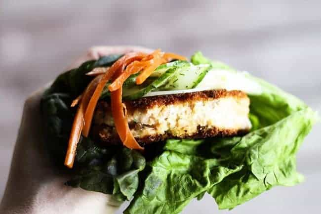 Asian Salmon Burgers with Wasabi Mayonnaise