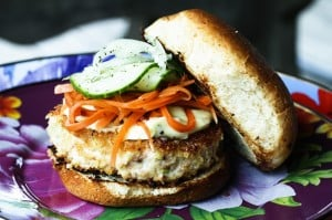 Asian Salmon Burger with Wasabi Mayo | www.foodiewithfamily.com