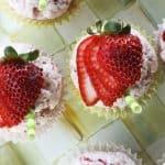 Strawberry Lemonade Cupcakes | www.foodiewithfamily.com