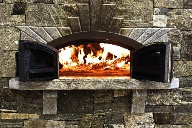 Wood-fired brick oven at King Arthur Flour's Baking Education Center | www.foodiewithfamily.com