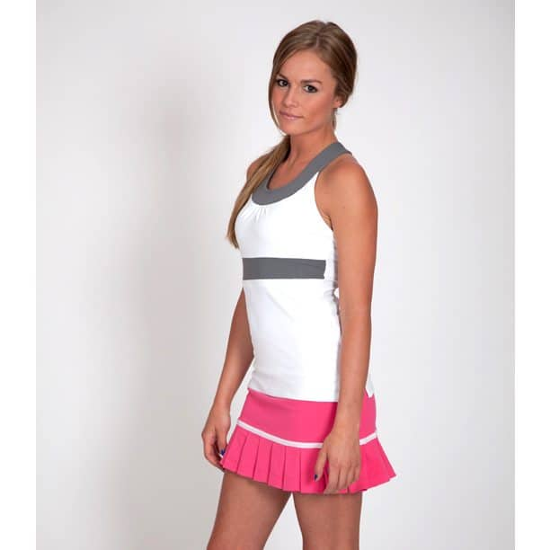 AlbionFit Uline Top White and Charcoal