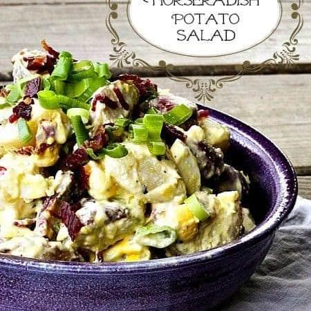 Bacon Horseradish Potato Salad | www.foodiewithfamily.com