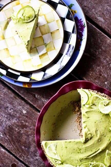 Joy's Secret Ingredient Lemon Lime Avocado No Sugar Icebox Pie | www.foodiewithfamily.com