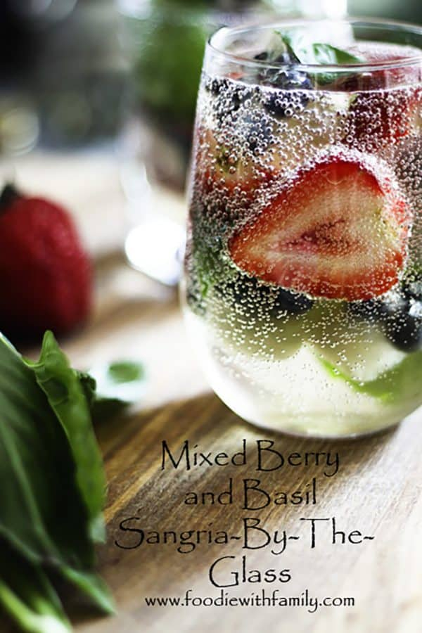 Mixed Berry Sangria-by-the-Glass. No need for a whole pitcher if you want a single glass! from foodiewithfamily.com