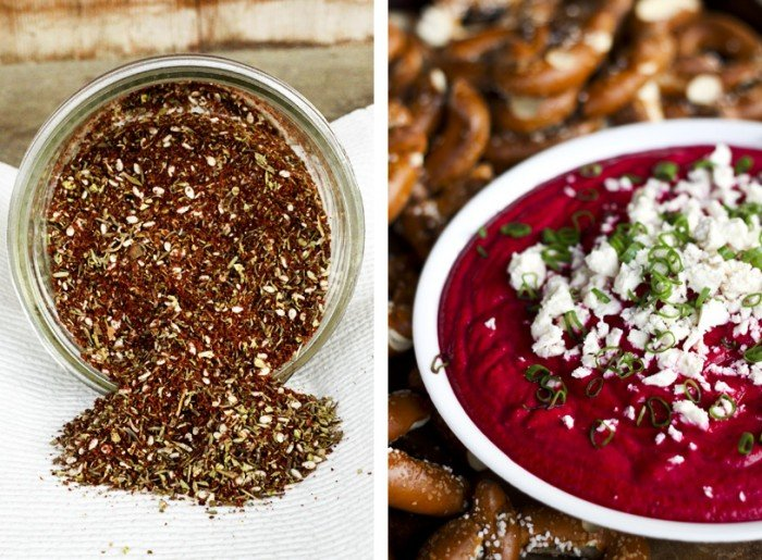 Roasted Beet Dip and Za'atar