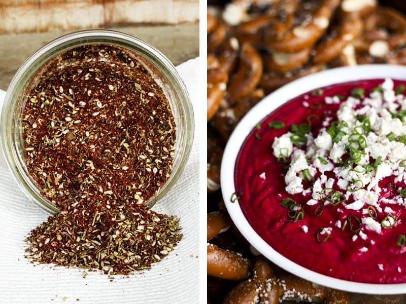 Roasted Beet Dip and Homemade Za'atar | Make Ahead Mondays