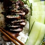 Chinese Barbecued Pork (Char Siu) and an #iPad #GIVEAWAY | Make Ahead Mondays www.foodiewithfamily.com
