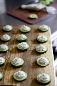 Cucumbers with Herbed Cream Cheese | www.foodiewithfamily.com