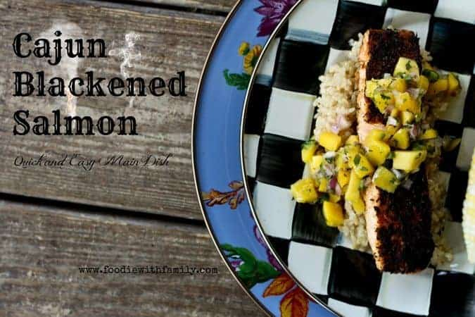 Cajun Blackened Salmon | www.foodiewithfamily.com