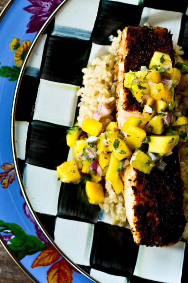 Easy Cajun Blackened Salmon from foodiewithfamily.com