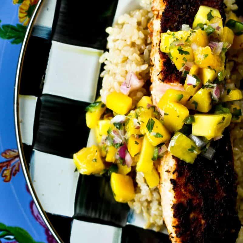 Easy Cajun Blackened Salmon   Quick and Easy Main Dish
