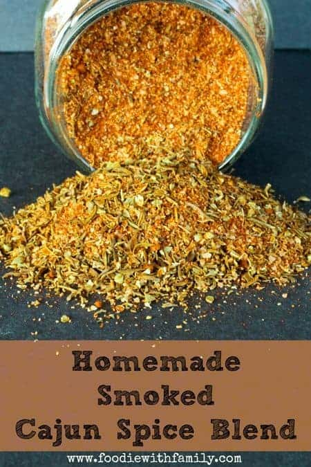Homemade Smoked Cajun Seasoning | www.foodiewithfamily.com