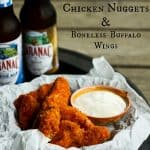 Oven 'Fried' Homemade Chicken Nuggets &Boneless Buffalo Chicken Wings | www.foodiewithfamily.com
