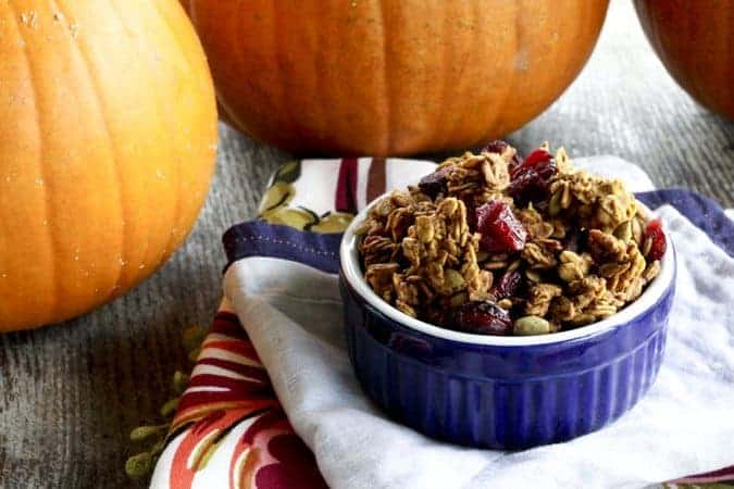 Pumpkin Spice Granola | Make Ahead Mondays