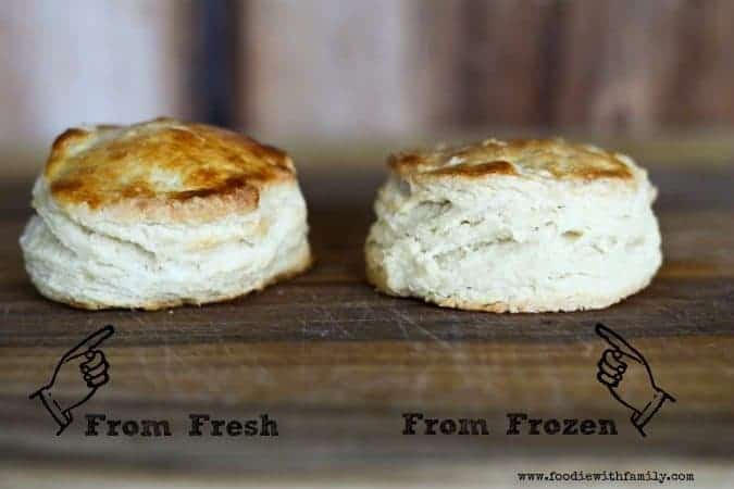 Can you tell which biscuit was frozen before it was baked? www.foodiewithfamily.com