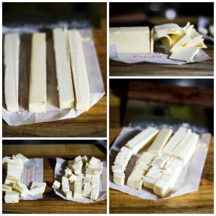 How to cut your butter for perfect, flaky, layered buttermilk biscuits. www.foodiewithfamily.com