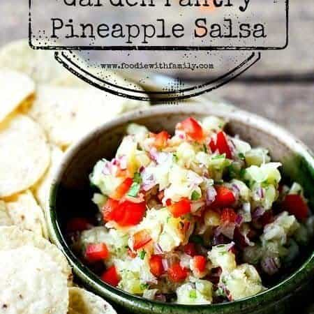 Garden Pantry Pineapple Salsa at www.foodiewithfamily.com